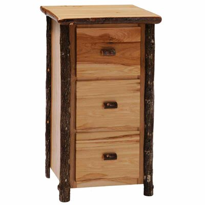 Fireside Lodge Hickory 3-Drawer File Cabinet