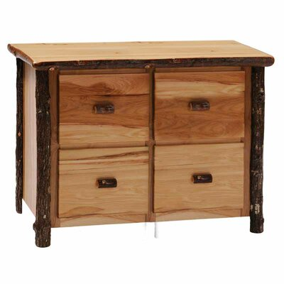 Fireside Lodge Hickory 4-Drawer File Cabinet Image
