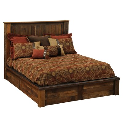 Fireside Lodge Barnwood Platform Bed