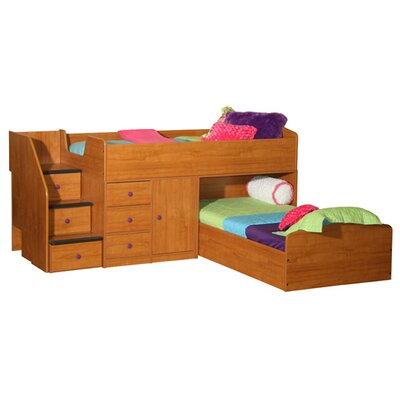 Berg Furniture Sierra Twin L-Shaped Bunk Bed