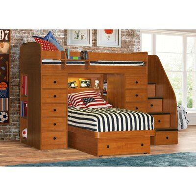 Berg Furniture Sierra Twin L-Shaped Bunk Bed with Storage