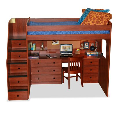 Berg Furniture Utica Loft Bed with Storage