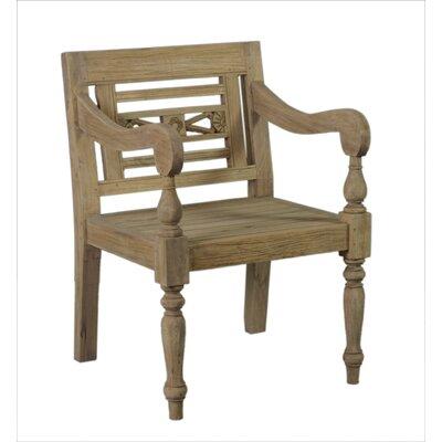Lark Manor Burnet Carved Wood Armchair