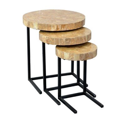 Beachcrest Home Dalvey 3 Piece Nesting Tables