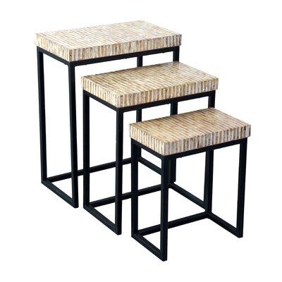 Beachcrest Home Dalvey 3 Piece Nesting Tables
