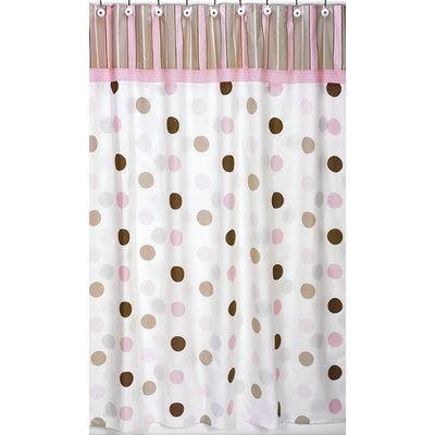 Sweet Jojo Designs Mod Dots Cotton Shower Curtain ...