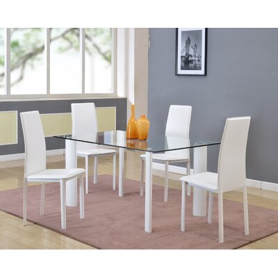 Wade Logan 5 Piece Dining Set