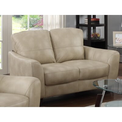 Latitude Run Krystal Leather Loveseat