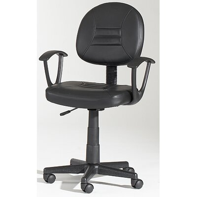 Chintaly Imports Mid-Back Hydraulic Office Chair Swivel