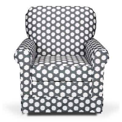 Storkcraft Polka Dot Upholstered Swivel Glider