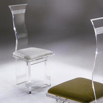 Shahrooz Symphony Lines Acrylic Side Chair (Set of 4)