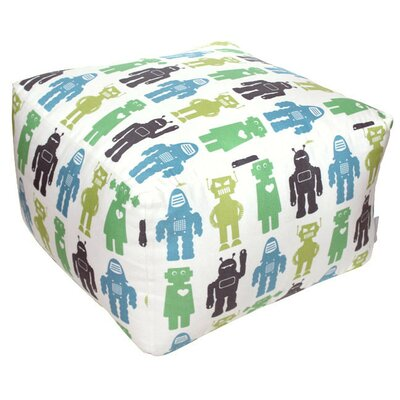 Aimee Wilder Designs Robots Lime Pouf ..