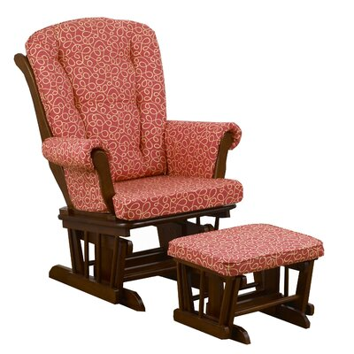 Cotton Tale Peggy Sue Swirl Glider with Ottoman