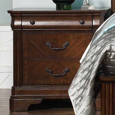 Rosalind Wheeler Ruppert 2 Drawer Nightstand