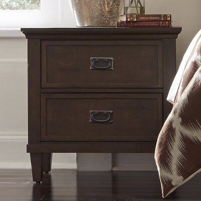 Rosalind Wheeler Dunamoy 2 Drawer Nightstand