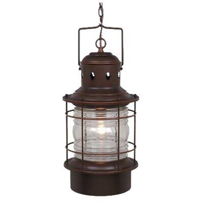Vaxcel Nautical 1 Light Outdoor Hanging Lantern Reviews Wayfair
