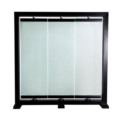 74 H X 73 W Crackled Glass 3 Panel Room Divider