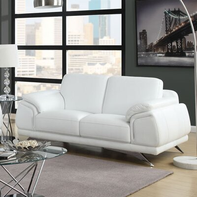 Diamond Sofa Casablanca Top Grain Leather Loveseat