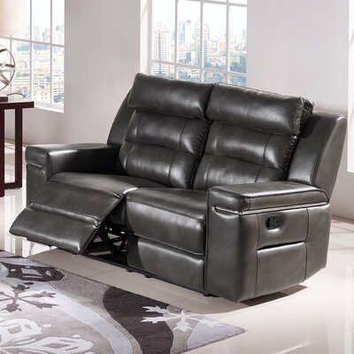 Diamond Sofa Duncan Leather Reclining Loveseat