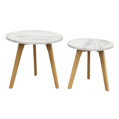 Diamond Sofa Pebble 2 Piece Nesting Tables (Set of 2)