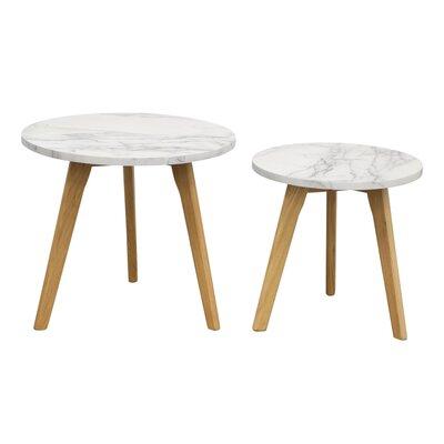 Diamond Sofa Pebble 2 Piece Nesting Table..