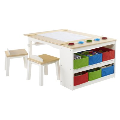 guidecraft arts and crafts kids rectangle center table. Black Bedroom Furniture Sets. Home Design Ideas