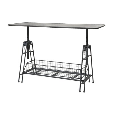 IMAX Henry Adjustable Metal Work Console Table