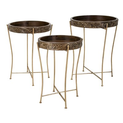 Rosalind Wheeler Batton 3 Piece End Table Set