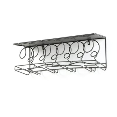 Latitude Run Douglass 6 Bottle Wall Mounted Wine Rack