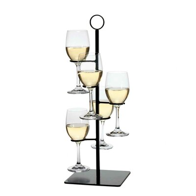 Charlton Home Gary Flight Server 5 Bottle Tabletop Wine Rack