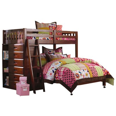 Discovery World Furniture Weston Twin over Full L-Shaped Bunk Bed
