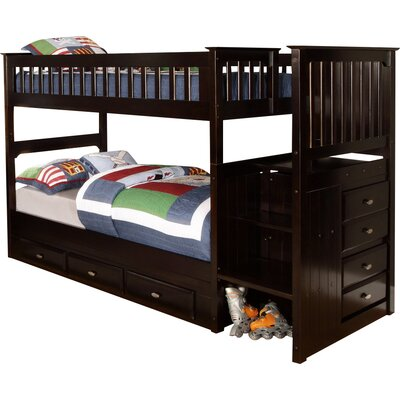 Discovery World Furniture Twin Bunk Bed with Storage