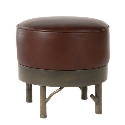 Stone County Ironworks Norfork Leather Ottoman