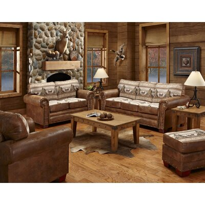 American Furniture Classics Alpine Lodge 4 Piece Living Room Set