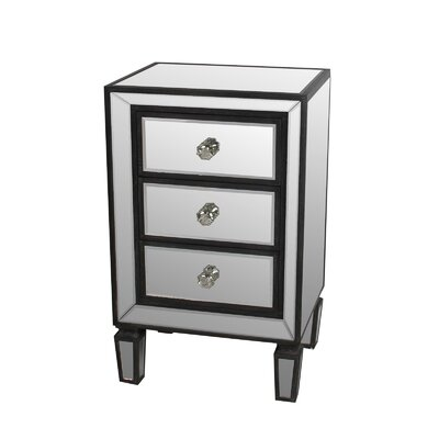 House of Hampton Kara 3 Drawer Nightstand