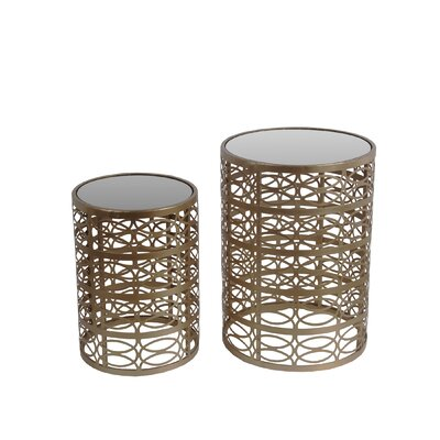 Mercer41 Corbridge 2 Piece End Table Set