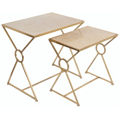 Mercer41 Cambridge 2 Piece Marble Nesting Tables
