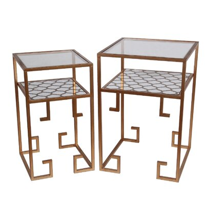 Mercer41 Corin 2 Piece End Table Set