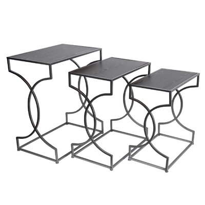 Mercer41 Cahn 3 Piece Nesting Tables