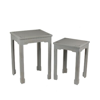 Privilege 2 Piece Shagreen End Table Set