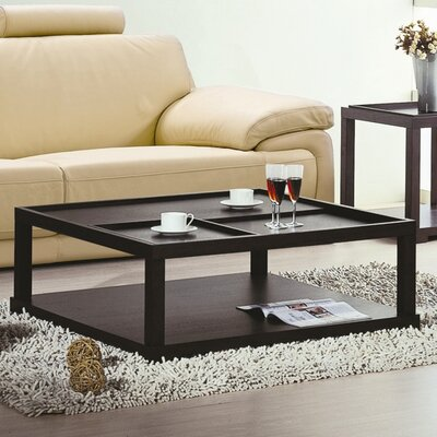 Hokku Designs Coffee Table with Removable..