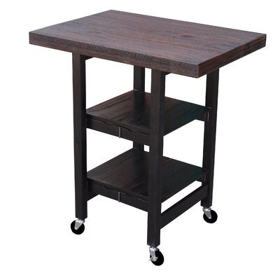 Oasis Concepts Folding Kitchen Cart with Wood T..