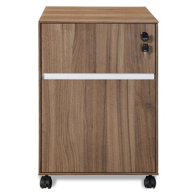 Unique Furniture 300 Series Mobile File Cabinet