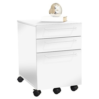 Unique Furniture Tribeca 211 3 Drawer File Cabinet
