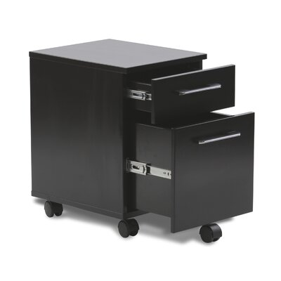 Unique Furniture 200 Series 2 Drawer Mobile Pedestal Filing Cabinet