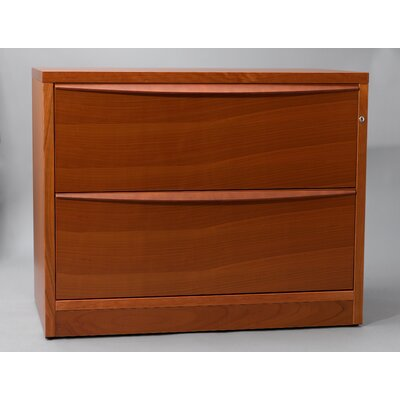 Unique Furniture 2-Drawer Lateral File Cabinet with Two Drawers in Wood