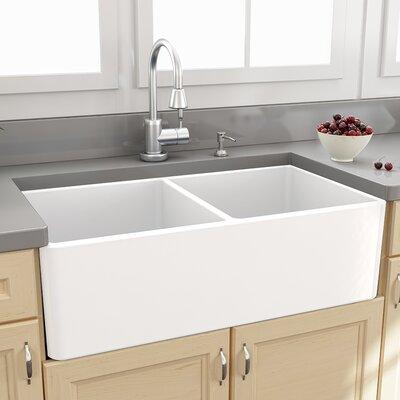 Nantucket Sinks Cape 33 Quot X 18 Quot Double Bowl Kitchen Sink