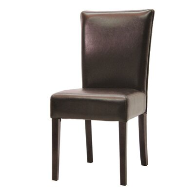 Palecek Hudson Woven Back Side Chair in Dark Brown