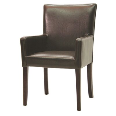 Palecek Hudson Woven Back Arm Chair in Dark Brown