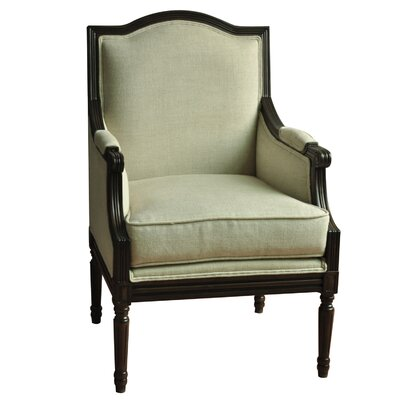 Rosalind Wheeler Drumankelly Linen Arm Chair